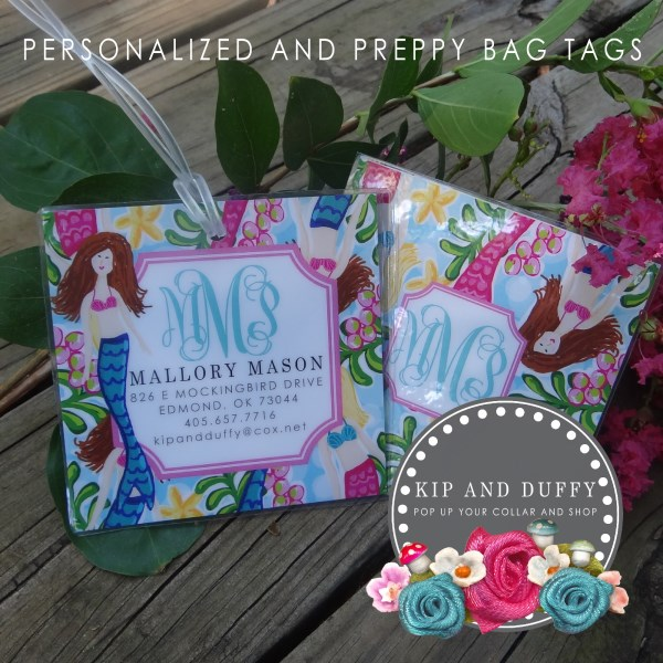 PREPPY MERMAID BAG TAG